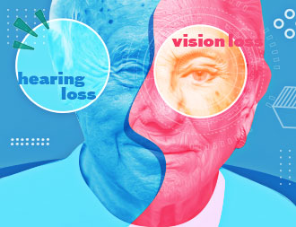 vision and hearing loss cover design